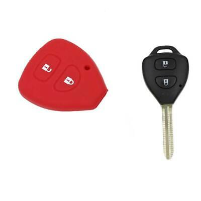 2 Button Remote Fob Shell Case Car Silicon Key Cover for TOYOTA Corolla Camry