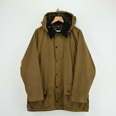 Vintage Barbour A821 Classic Moorland Brown Wax Jacket Coat Made In UK L / XL