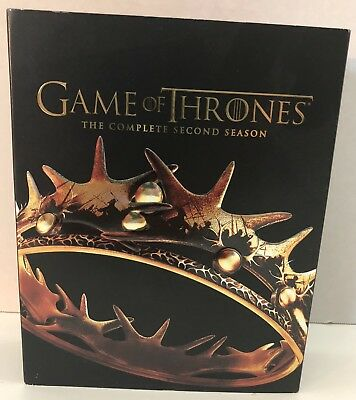 GAME OF THRONES Complete Second Season HBO 7 Discs Blu-Ray DVDs