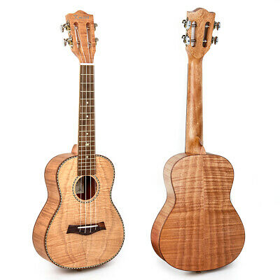 Classical Concert Ukulele 23 inch Hawaii Guitar Tiger Flame Okoume Uke for Gift