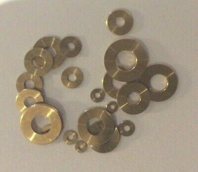 Brass Flat Washers Assortment 20 Pieces New Clock  Repair Parts (Type FW20)