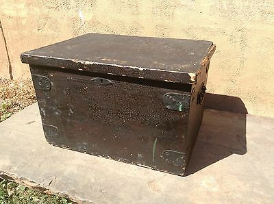 Antique Labeled Hyam & Co.,Ltd. Tailors And Boot Makers Chest Or Trunk