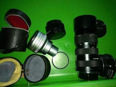 Lot Vtg Camera Lenses vivitar auto 2x MC 70-150mm auto Pentax 1:2 bell& Howell