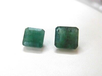 Beautiful Pair Of Natural Emerald Stone AAA+ 12.45 Cts Emerald Shape Gemstones