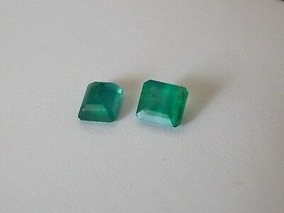 Beautiful Pair Of Natural Emerald Stone AAA+ 3.50 Cts Emerald Shape Gemstones