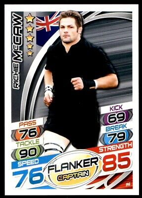 Topps Rugby Attax 2015 - Richie McCaw New Zealand No. 96