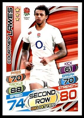 Topps Rugby Attax 2015 - Courtney Lawes England No. 31