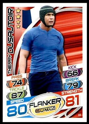 Topps Rugby Attax 2015 - Thierry Dusautoir France No. 51