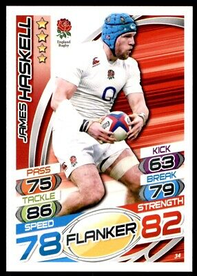 Topps Rugby Attax 2015 - James Haskell England No. 34