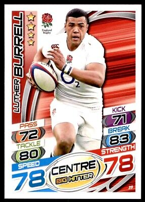 Topps Rugby Attax 2015 - Luther Burrell England No. 39