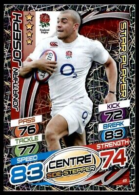 Topps Rugby Attax 2015 - Jonathan Joseph England Star Player No. 45