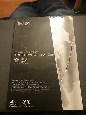 2007-Wales V South Africa-Prince William Cup-International-Rugby Union Programme
