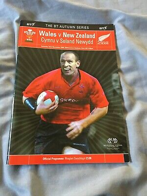 2002-Wales V New Zealand-Autumn International Test-Rugby Union Programme-Good