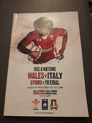 2012-Wales V Italy-Grand Slam-Six-6 Nations-International-Rugby Union Programme