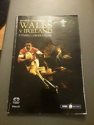 2011-Wales V Ireland-Six-6 Nations-International-Rugby Union Programme