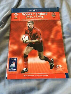 2003-Wales V England-Grand Slam-Six Nations-International Rugby Union Programme