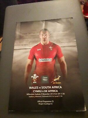 2013-Wales V South Africa-Autumn International Test-Rugby Union Programme