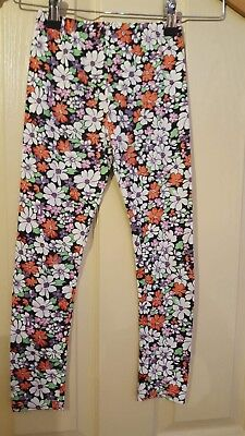 Girls floral warm leggins for girls size: 8 years