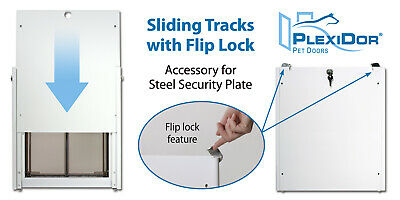 PlexiDor Sliding Tracks for mounting the Security Plate included with doors