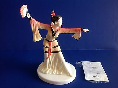 CHINESE FAN DANCER HN556 Signed M.Doulton Royal Doulton Dances of World Fig NIB