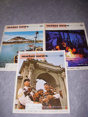 Vintage Aaa Michigan Living Motor News, Lot Of 3, 1972, Detroit Tigers Article!