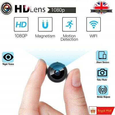 Mini WIFI Hidden Spy Camera Wireless 1080P Night Vision Motion Detection Home UK