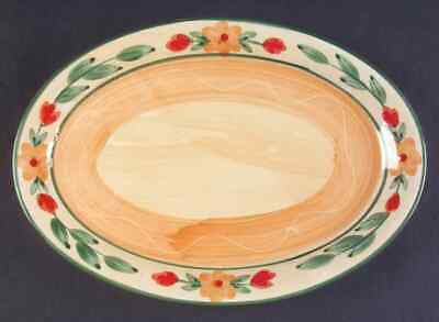 "Gibson Designs FLORAL TERRACE 12 1/8"" Oval Serving Platter 6250721"