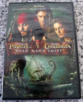 PIRATES OF THE Caribbean Dead Man's Chest DVD Free Shipping - $4 50