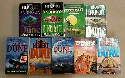 9 CAPTIVATING DUNE NOVELS by FRANK HERBERT and ANDERSON  ** FREE UK POST ** P/B