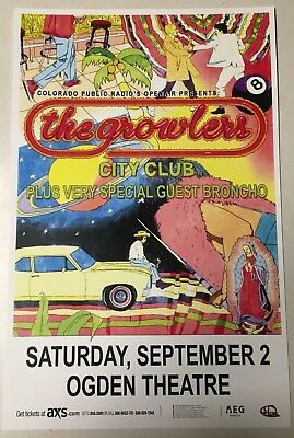 The GROWLERS City Club Tour 2017 - Denver 11x17 Promo Concert Flyer / Gig Poster