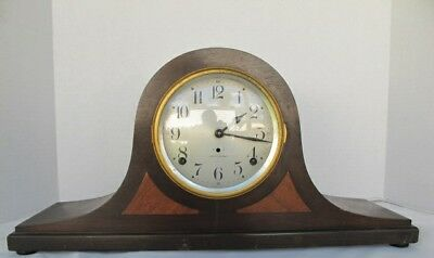 ANTIQUE SETH THOMAS HUMPBACK MANTLE CLOCK For Parts/Restoration/No Key