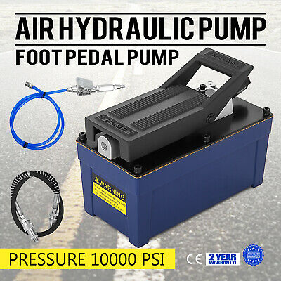 Air Powered Hydraulic Foot Pump 10,000 PSI Unit Release pressure Auto Repair
