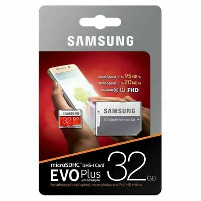 Samsung 32GB Micro SD Card SDHC EVO+ 80MB/s UHS-I Class 10 TF Memory Card HD
