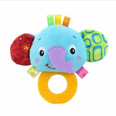 Infant Hand Gripping Teether Rattle for Baby Secure HR
