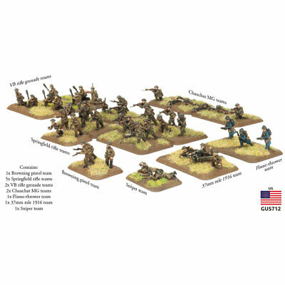 Flames of War The Great War American Rifle Platoon GUS712