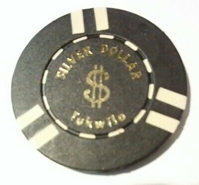 Silver Dollar Casino Tukwilo, Washington $20.00 Chip Great For Any Collection!