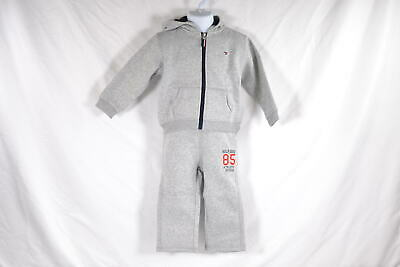 Baby Boy's Tommy Hilfiger Draper Fleece Shirt and Pant Set in Grey