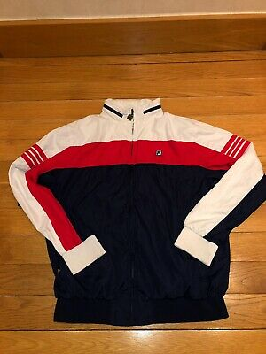 Fila Size Large Mens Track Suit Top Vintage. Blue White And Red.