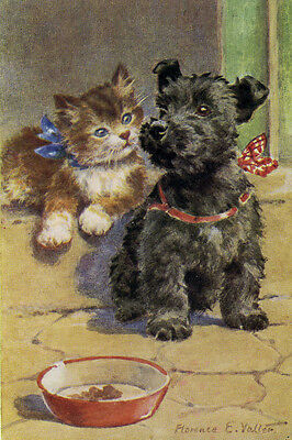 Scottish /& West Highland Terrier 1940s F Valter LARGE New Blank Note Cards