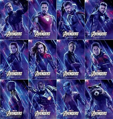 "Avengers End Game Poster 14x21"" 27x40"" Main Characters Marvel Movie Film Print"