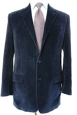 J Crew Mens M Corduroy Sport Coat Cotton/Cashmere Navy Blue 3-roll-2    #249