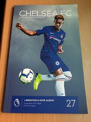 Chelsea FC Vs Brighton Official Matchday Programme 03/04/19 Free Delivery