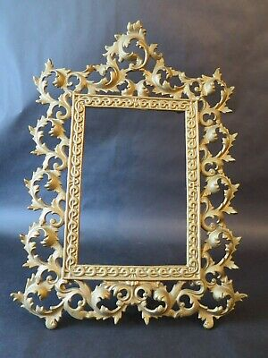 "Vintage Solid Brass Ornate Picture/Photo Frame 15""X11"""