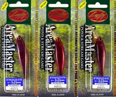 """Lot of 3 New LUCKY CRAFT 2-1//2/"""" B/'Freeze//Pointer 65 Series Crankbaits"""