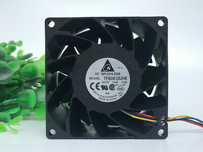 1pcs Delta fan QFR0812UHE 8CM 8038 12V 2.50A 4-wire server fan