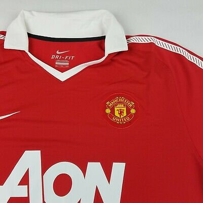 competitive price 4b5b8 76487 NWOT NEW NIKE 2011-2012 Manchester United Home Red Premier League Jersey Sz  XXL