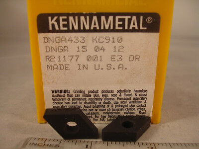 Kennametal Ceramic CNGN120412T01020 CNG433T0420 Grade KY2100 Qty 5
