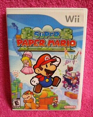 Nintendo Wii Super Paper Mario Game with Manual & Case 2007