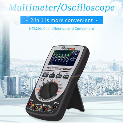 MUSTOOL MT8206 2 in 1 LCD Digital Handheld Oscilloscope Multimeter Tester AC/DC