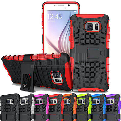 Rugged Shockproof Hybrid Rubber Stand Hard Case Cover Fr Samsung Galaxy Note 4 5